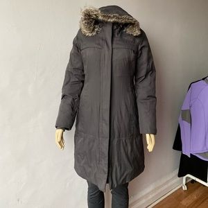 The north Face Gray Parka Long Coat size S